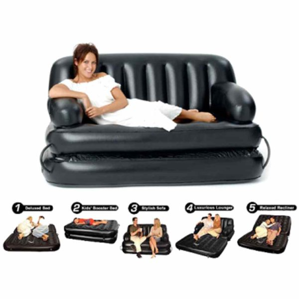 Inflatable Double Air Bed Sofa cum Chair