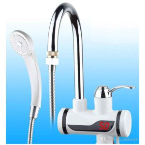 Digital Display Electric Tap Instant Water Heater for Basin with Hand Shower