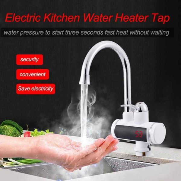 Digital Display Electric Instant Water Heater Tap for Basin