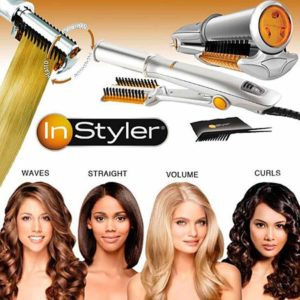 InStyler Original Rotating Hot Iron, Silver 34 Inch
