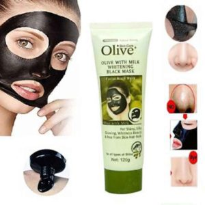 Olive Milk Whitening Black Mask