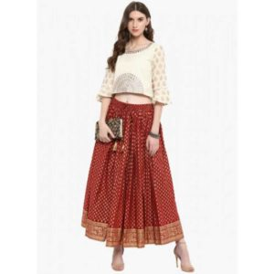 Indian Cotton Printed Maxi Skirt