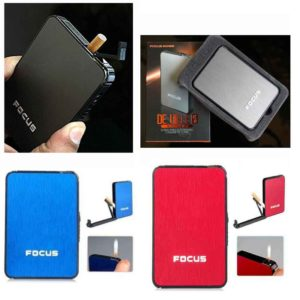 Focus Cigarette Case with Lighter