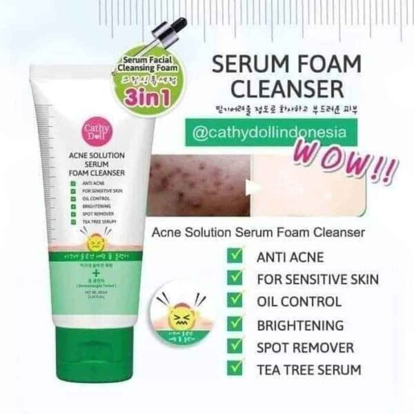 Cathy Doll Acne Solution Foam Cleanser